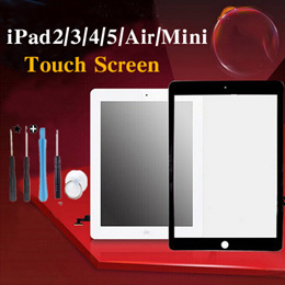 New Touch Screen Glass Digitizer+ Home Button Assembly for iPad 2 ipad3/4 ipad air Ipad air 2 iPad mini