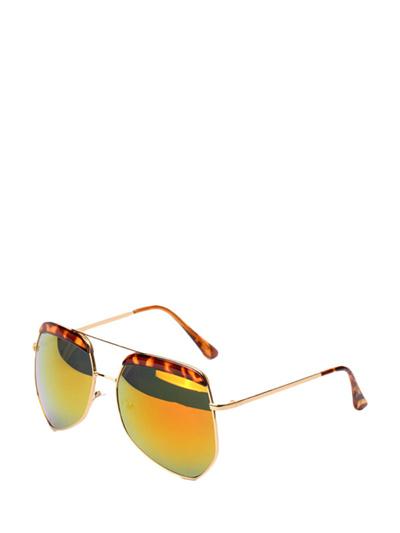 Retro Polygon Frame Reflective Fashion Sunglasses