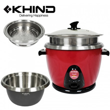 KHIND 2.8L Anshin Rice Cooker with Smart Switch Stainless Steel Inner Pot (RC128M)