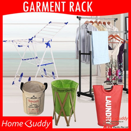 Laundry Drying Rack ■ Garment Rack With Wheels ■ Laundry Basket ■ ★ Stocks in Singapore ★