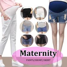 2018 new fashion maternity pants short skirt denim embroidery