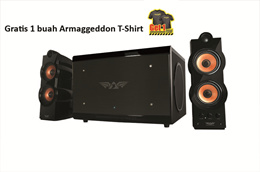Armaggeddon Ultra A7 - Hitam - Gratis T Shirt