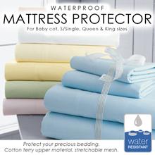 FITTED Waterproof Bedsheet / Waterproof Mattress Protector. - Ready Stock / Local Seller