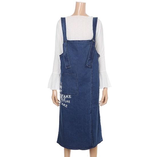 バンエイクポケット捺染ワンピースJV79OPM409Z 面ワンピース/ 韓国ファッション
