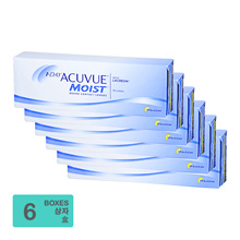 [Free Shipping] Johnson and Johnson 1-Day Acuvue Moist BC 8.50mm (30pcs/box) x6