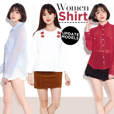 NEW WOMEN SHIRT/BLOUSE-BEST SELLER KEMEJA/BLOUSE WANITA Deals for only Rp69.000 instead of Rp69.000