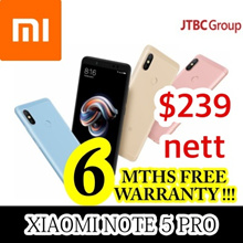 [6 MTHS warranty!] XIAOMI NOTE 5 PRO / LOCAL SELLER / 32gb or 64gb / Export set with Google playstor