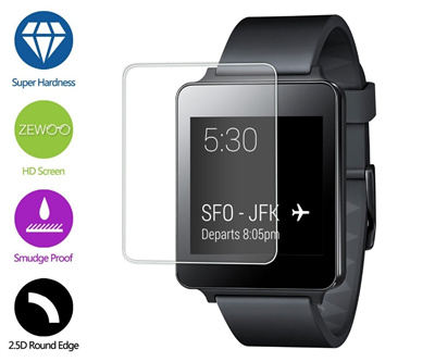9H Tempered Glass Screen Protector Film LG G WATCH W100 Smart Watch Protect against scratches dirt