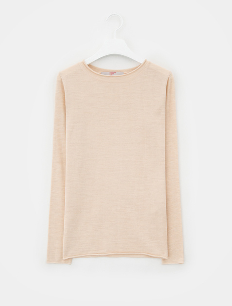 8SECONDS [Kni-Tee] Basic Round Neck Knit - Beige