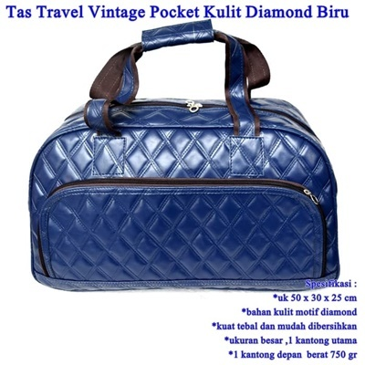 Tas Travel Vintage Pocket Kulit DIAMOND