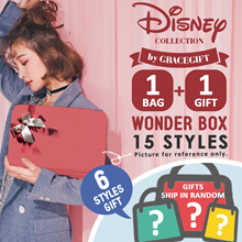 Gracegift-★1+1 WONDER BOX★15 Styles Disney Mickey Minnie Bags+Free Tote Bags Ship in Random