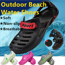 83fca7051c9d Summer Mens Hollow Sandal Breathable Slippers Outdoor Beach Waterproof Shoes  Casual Footwear