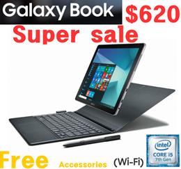 """Samsung Galaxy Book 12"""" Windows 2-in-1 PC WiFi SM-W620 SM-W720 Silver 4GB 128GB 8GB 256GB"""