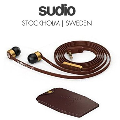 [SUDIO From SWEDEN] AUTHENTIC! high quality sound/ real leather case/metal clip/ mobile stereo earphone/ earset/ headphone / gift item / sudio klang / mobilephone