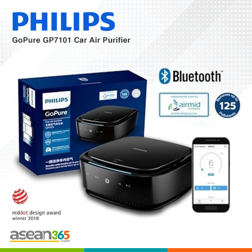 [S$268.00][PHILIPS]Philips GoPure GP7101 Car Air Purifier | Bluetooth-enabled | App-controlled iOS and Android