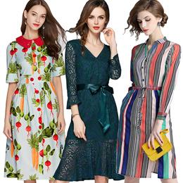 6838e3ecf347a High quality dress High end dress European British style Office dresses  fashion