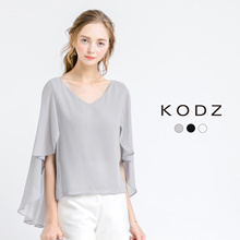 KODZ - Chiffon Batwing Blouse-171114-Winter