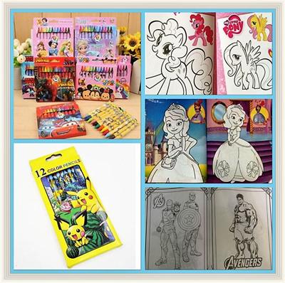 Children Coloring Book Pencils Stationary Set Goodie Bag Goodies