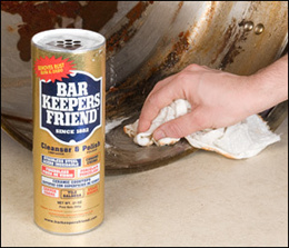 Bar Keepers Friend Steel Metal Chrome Porcelain Ceramic Copper etc Cleanser Cleaner and Polish.