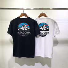 tide brand japan limited edition patagonia/patagonia snow mountain 1973 Ins hot-selling short-sleeve