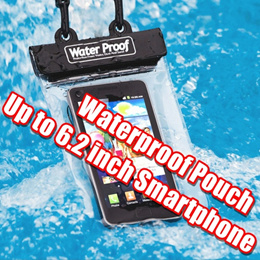 Waterproof Underwater Pouch Dry Bag Case Cover for 6 inch Smrtphone Galaxy Mega Note 4 5 iPhone 6+