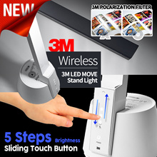 ★ Lowest price ★ 3M LED Stand MOVE wireless / 5-step light control / Rechargeable / Desk Stand