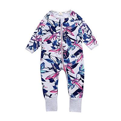f0a8c8f835a5 Qoo10 -  KIDS TALES  Baby Girl Newborn Iris Footed Handed Pajama ...