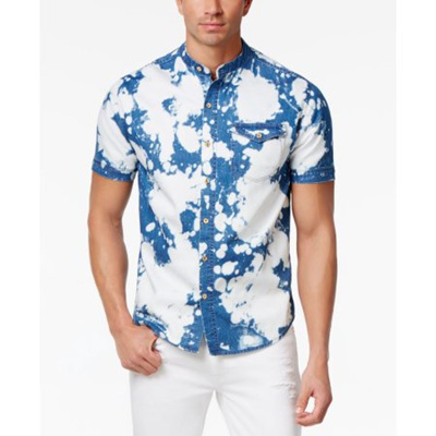 b18535a7393 Qoo10 - Sean John Mens Bleached Denim Shirt   Men s Clothing