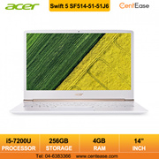 Acer Swift 5 SF514-51-51J6 Laptop  i5-7200U  14 inch  FHD  W10  4GB  256GB SSD
