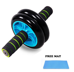 New Generation Double Wheel ABS Roller AB ROLLER + FREE KNEE PAD