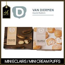 [A-Chef] Van Diermen Pastries - Mini Eclair Custard 10 pcs / Mini Vanilla Cream Puff 20 pcs