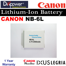 Canon NB-6L Lithium-ion Battery for Powershot IXUS Camera by Divipower
