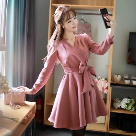 フィオナ秋ロマンスopsm5332ワンピース シフォン/レースのワンピース/ 韓国ファッション