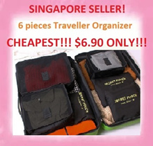 FREE GIFTS! [NO OPTION PRICE]Traveller Organizer pouch 6 in 1 set Travel Bag /shoes bag Toiletry