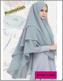 Instant Khimar 3 Layer NP1