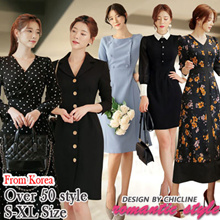 [Chicline] S~XL plus size Korean dress  [UP TO 65% OFF - women fashion women clothing