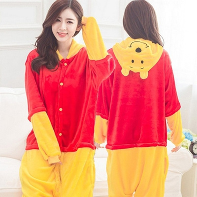 Winnie the Pooh Adult Pajamas Kigurumi Cosplay Costume Animal Sleepwear ea674692c