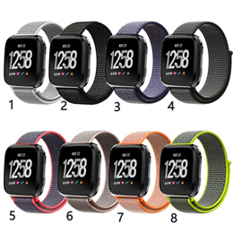 Woven Nylon Strap Loop Band for Fitbit Versa Smart Watch