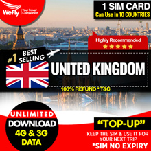 UK Sim card (Hutchinson 3 Network):1GB of highspeed 4G data .Can use for 30 days