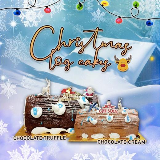 Qoo10 - [APPLY QOO10 COUPON]☆CHRISTMAS LOG CAKES☆ 0.55KG☆ 1.0KG☆ 1.5KG  Various... : Groceries