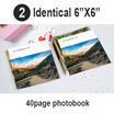 "2 Identical 40-Page 6""x 6"" Mini Square Softcover Photobook"