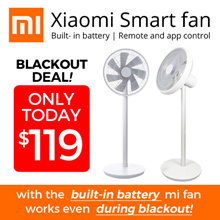 [Local Warranty] ★ Xiaomi Zhimi Fan with Built-in Battery Smart Remote Multi Oscillation Mode