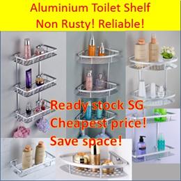 3 tier/2 tier Aluminium Shelf/ Corner shelf /Kitchen or toilet shelf/Bathroom shelf/Toilet rack
