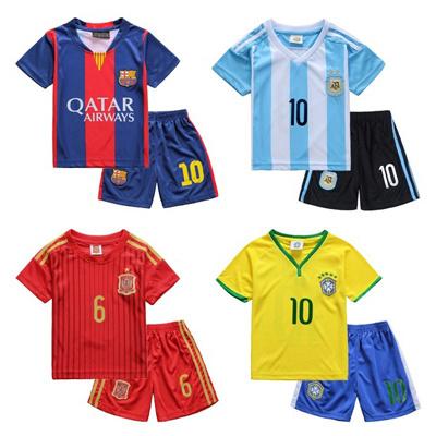 online retailer e3dee e5e05 Childrens soccer uniform/Real Madrid CF/Futbol Club Barcelona/Sport  suit/FOOTBALL CLOTHES/ Messi/Neyma/2015 summer