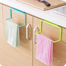 Kitchen Cabinet Door Single Bar Towel Rack Plastic Traceless Cloth Hanger Towel Bar Multipurpose Han