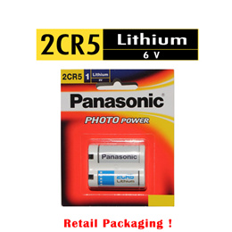 Panasonic 2CR5 6V Lithium Battery  Photo Power