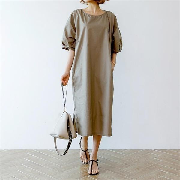 ディエイスビビコットン・ワンピースnew 無地ワンピース/ワンピース/韓国ファッション