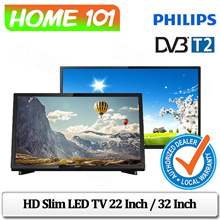 Philips Full HD Ultra Slim LED TV With DVB-T/T2 22Inch / 32 Inch