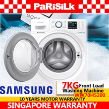 SAMSUNG 7KG Front Load Washing Machine WW70H5200 (WW70H5200EW) - 3 ticks - 10 YEARS MOTOR WARRANTY