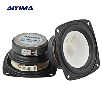 Qoo10 - AIYIMA 2Pcs 3Inch Audio Portable Speakers 4Ohm 20W